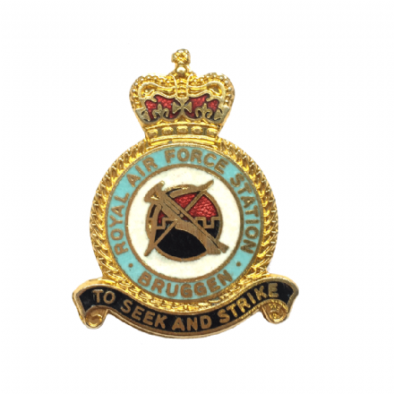 Royal Air Force RAF Station Bruggen Lapel Badge